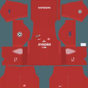 Dream League Soccer Spartak Moscow home kit 2018 - 2019-2020