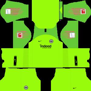 Dream League Soccer Eintracht Frankfurt goalkeeper away kit 2018 - 2019