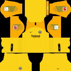 Dream League Soccer Eintracht Frankfurt goalkeeper home kit 2018 - 2019